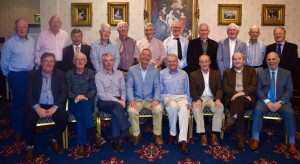 Retired members of the Safety & Technical Service Supervisors (STSS) Group who attended a re-union at Killarney, Co. Kerry in mid-October 2015. Back Row, Left to right: Pat Clifford, Bantry, Co. Cork, Jim Delaney, Co. Wexford, William Fitzgerald, Rathfarnham, Dublin Ger Buckley, Cork, PJ Fagan, Athlone, John Reilly, Galway, Shay Costello, Balbriggan, Co. Dublin, John Murray, Cork, Charlie Carr, Sligo, Michael Moran, Navan, Co. Meath, PJ Reamsbottom, Co. Carlow. Front Row, Left to right: Michael Daly, Blackrock, Co. Dublin, Michael Norris, Dungarvan, Co. Waterford, Matt Bane, Killaloe, Co. Tipperary, Michael Hanly, Killiney, Co. Dublin, Michael Hughes, Bray, Co. Wicklow, Joe Tinkler, Co. Laois, Liam Shanahan, Tara, Co. Meath, Denis Crone, Saggart, Co. Dublin.
